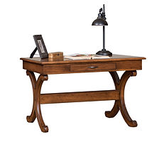 Hemingway Writing Table   Cherry in Medium OCS110   54in W x 28in D x 30 1/2in H   The Amish Home   Amish Furniture at the Pittsburgh Mills