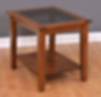 Deluxe Shaker End Table   Cherry in Boston OCS111   22in W x 28in D x 24in H   The Amish Home   Amish Furniture at the Pittsburgh Mills