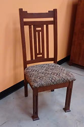Parker Mission Side Chair with padded seat quartersawn white oak michaels