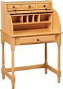 Junior's Small Roll Top Desk shown open | Oak in Seely OCS104 | 30in W x 20in D x 45in H | The Amish Home | Amish Furniture at the Pittsburgh Mills