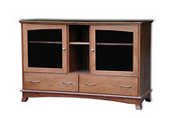 Crescent TV Stand | Cherry in S-14 OCS108 | 60in W x 20 3/4in D x 39in H | The Amish Home | Amish Furniture at the Pittsburgh Mills