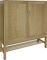 Laurel Pie Safe with two doors | with two adjustable shelves | Oak in Sand OCS132 | 48in W x 16in D x 51in H | The Amish Home | Amish Furniture at the Pittsburgh Mills