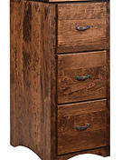 Wayne's Shaker 3 Drawer File Cabinet|Rustic Cherry in Medium OCS110|20 1/4in W x 22in D x 44in H|The Amish Home|Amish Furniture at the Pittsburgh Mills