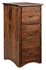 Wayne's Shaker Three-Drawer File Cabinet | Rustic Cherry in Medium OCS110 | 20 1/4in W x 22in D x 44in H | The Amish Home | Amish Furniture at the Pittsburgh Mills