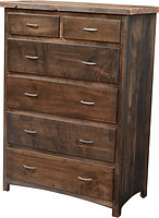 Pilgrim Bureau with reclaimed barnwood|Brown Maple in Cappuccino OCS119|39in W x 20in D x 53in H|The Amish Home|Amish Furniture at the Pittsburgh Mills