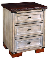 Farmhouse 3 Drawer Nightstand|Reclaimed Barn Oak in Asbury OCS117|25in W x 20in D x 30 1/2in H|The Amish Home|Hardwood Furniture at the Pittsburgh Mills