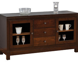 Hampton Meadow Buffet|Brown Maple in Rich Tobacco OCS228|58 1/2in W x 18 1/2in D x 31 1/2in H|The Amish Home|Amish Furniture at the Pittsburgh Mills