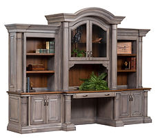 Paris 3-piece Credenza with optional hutch | Cherry in Two-toned | 133 1/2in W x 30in D x 97 1/4in H | The Amish Home | Amish Furniture at the Pittsburgh Mills