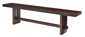 Elwood Bench | Brown Maple in Rich Tobacco OCS228 | Many Sizes Available | The Amish Home | Amish Furniture at the Pittsburgh Mills