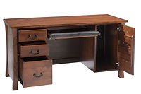 Woodbury Computer Desk | Brown Maple in Asbury OCS117 | 60in W x 24in D x 30 3/4in H | The Amish Home | Amish Furniture at the Pittsburgh Mills