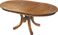 Carlisle Shaker Dining Table|Oak in Seely OCS104|Many Sizes Available|The Amish Home|Amish Furniture at the Pittsburgh Mills