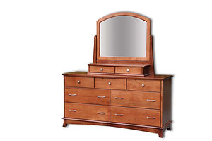Crescent Dresser|Cherry in S-14 OCS108|65 1/2in W x 20 3/4in D x 34 3/4in H|The Amish Home|Amish Furniture at the Pittsburgh Mills