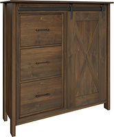 Butler Pie Safe with one door and three drawers | with two adjustable shelves | Brown Maple in Cocoa OCS122 | 48in W x 16in D x 51in H | The Amish Home | Amish Furniture at the Pittsburgh Mills