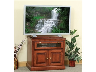 The H&G Wood Traditional TV Stand is shown in brown maple