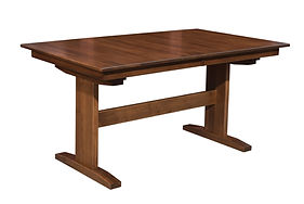 Millcreek Trestle Dining Table | Brown Maple in Coffee OCS226 | Many Sizes Available | The Amish Home | Amish Furniture at the Pittsburgh Mills