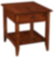 Somerset End Table | Rustic Cherry in Michaels OCS113 | 22in W x 26in D x 25in H | The Amish Home | Amish Furniture at the Pittsburgh Mills