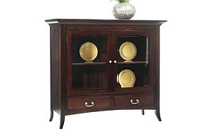 English Shaker China Pantry|Brown Maple in Rich Tobacco OCS228|54in W x 21 1/4in D x 48in H|The Amish Home|Amish Furniture at the Pittsburgh Mills