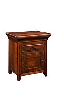 Marcella 1 Drawer 1 Door Nightstand|Rustic Cherry in Asbury OCS117|25 1/2in W x 19 3/4in D x 30 1/2in H|The Amish Home|Hardwood Furniture at the Pittsburgh Mills