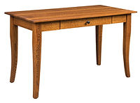 Cortland 48in Writing Desk with keyboard tray | Available with pencil drawer or keyboard tray. Express Shipping Available | Quartersawn White Oak in Michaels OCS113 | 48in W x 25in D x 30in H | The Amish Home | Amish Furniture at the Pittsburgh Mills