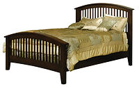 Cambrai Bed with Arched Footboard|Brown Maple in Rich Tobacco OCS228|Headboard 55in H, footboard 33in H|The Amish Home|Amish Furniture at the Pittsburgh Mills