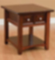 Open Garnet Hill End Table|Brown Maple in Rich Cherry OCS227|22in W x 24in D x 24in H|The Amish Home|Hardwood Furniture at the Pittsburgh Mills