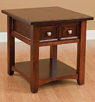 Open Garnet Hill End Table|Brown Maple in Rich Cherry OCS227|22in W x 24in D x 24in H|The Amish Home|Amish Furniture at the Pittsburgh Mills