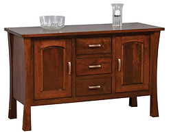 Woodbury Buffet|Rustic Cherry in Asbury OCS117|53in W x 20 1/2in D x 33 1/4in H|The Amish Home|Amish Furniture at the Pittsburgh Mills
