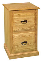 Ray's Traditional Two-Drawer File Cabinet | Oak in Fruitwood OCS102 | 21 1/2in W x 20 1/2in D x 32 1/2in H | The Amish Home | Amish Furniture at the Pittsburgh Mills
