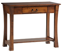 Woodbury Sofa Table | With drawer and shelf | Brown Maple in Asbury OCS117 | 36in W x 18in D x 30in H | The Amish Home | Amish Furniture at the Pittsburgh Mills
