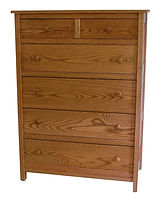 Country Mission Chest of Drawers|Oak in Seely OCS104|37 3/4in W x 19 7/8in D x 51 3/4in H|The Amish Home|Amish Furniture at the Pittsburgh Mills