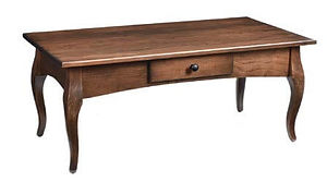 French Country Coffee Table|Rustic Cherry in Asbury OCS117|42in W x 22in D x 17 1/4in H|The Amish Home|Amish Furniture at the Pittsburgh Mills