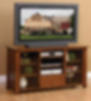 Stratford TV Stand|Rustic Cherry in Asbury OCS117|Three Sizes Available|The Amish Home|Amish Furniture at the Pittsburgh Mills