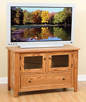 Ashford TV Stand|Oak in Seely OCS104|46in W x 20in D x 30in H|The Amish Home|Hardwood Furniture at the Pittsburgh Mills
