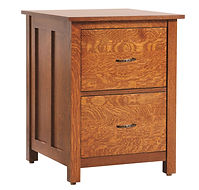 Coventry Mission Two-drawer File Cabinet | Quartersawn White Oak in Michaels OCS113 | 24in W x 23 12in D x 30 1/4in H | The Amish Home | Amish Furniture at the Pittsburgh Mills
