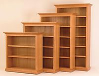 Heirwood Executive Bookcase | Available in Traditional, Mission, or Shaker style | Oak in Fruitwood OCS102 | Many Sizes Available | The Amish Home | Amish Furniture at the Pittsburgh Mills