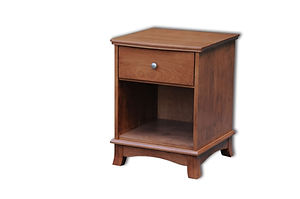 Crescent 1 Drawer Nightstand|Cherry in S-14 OCS108|21 1/2in W x 20 3/4in D x 27 1/2in H|The Amish Home|Amish Furniture at the Pittsburgh Mills