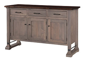 Carla Elizabeth Buffet | Standard features include soft-close doors and soft-close drawers. Optional wine rack available. | Brown Maple in Two-toned | 60in W x 20in D x 36in H | The Amish Home | Amish Furniture at the Pittsburgh Mills