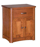 Meridian 1 Drawer 2 Door Nightstand|Rustic Cherry in Seely OCS104|25in W x 20 5/8in D x 30in H|The Amish Home|Amish Furniture at the Pittsburgh Mills