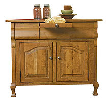 Arlington Corner Buffet|Rustic Cherry in Seely OCS104|42in W x 20 3/4in D x 35in H, 30 1/2in wall space|The Amish Home|Amish Furniture at the Pittsburgh Mills