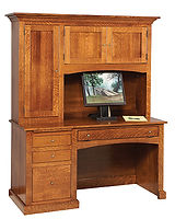Vintage Computer Desk|Brown Maple in Michaels OCS113|60in W x 24in D x 70 3/4in H|The Amish Home|Amish Furniture at the Pittsburgh Mills