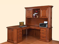 Fifth Avenue L-Desk with Hutch | Cherry in Washington OCS107 | 72in W x 78in D x 80in H | The Amish Home | Amish Furniture at the Pittsburgh Mills