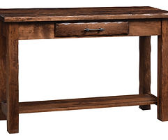 Hand Hewn Sofa Table|Rustic Cherry in Medium OCS110|48in W x 16in D x 30in H|The Amish Home|Amish Furniture at the Pittsburgh Mills