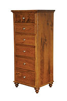 Duchess Lingerie Chest|Rustic Cherry in Seely OCS104|24 7/8in W x 20 5/8in D x 58in H|The Amish Home|Amish Furniture at the Pittsburgh Mills