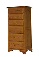 Crown Villa Lingerie Chest|Oak in Seely OCS104|27in W x 20in D x 57in H|The Amish Home|Hardwood Furniture at the Pittsburgh Mills
