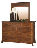 Bridgeport Mission Mule Dresser|Quartersawn White Oak in Michaels OCS113|63in W x 21 3/4in D x 42 1/2in H|The Amish Home|Amish Furniture at the Pittsburgh Mills