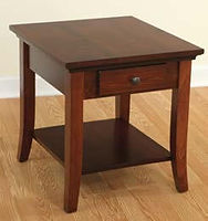 Carlisle Shaker End Table | Brown Maple in Rich Cherry OCS227 | 22in W x 24in D x 24in H | The Amish Home | Amish Furniture at the Pittsburgh Mills