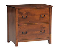 Rivertowne Lateral File Cabinet | Brown Maple in Michaels OCS113 | 32in W x 20in D x 30 1/2in H | The Amish Home | Amish Furniture at the Pittsburgh Mills