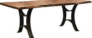 American furniture live edge table live edge dining table industrial furniture walnut furniture walnut kitchen table Amish furniture Pittsburgh Mills