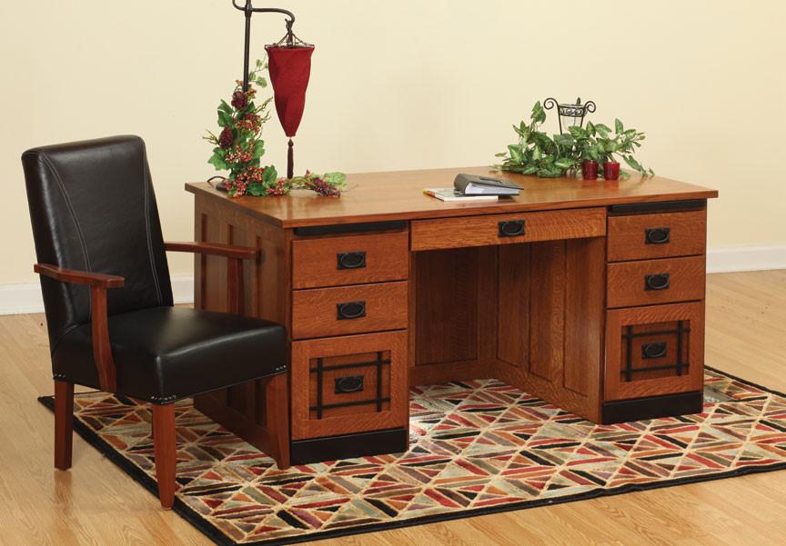 Glen Mission Desk in Quartersawn White Oak - Home Office Furniture