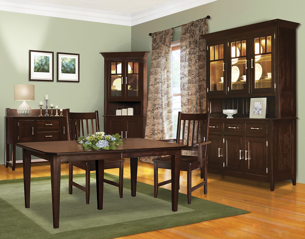 China cabinet lighting - Hydrangea collection with corner china cabinet